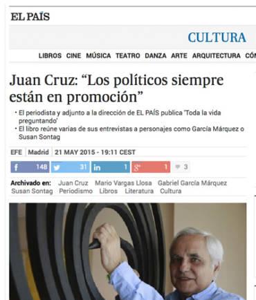 El País Cultura – Juan Cruz