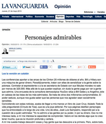 La Vanguardia – Juan Cruz
