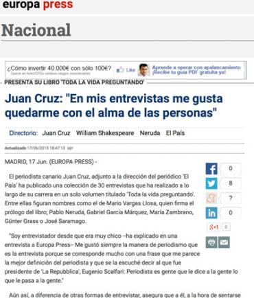 Europa Press – Juan Cruz