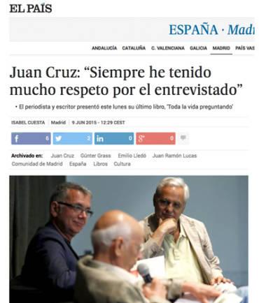 El País – Juan Cruz Ruiz