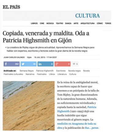 El País – Patricia Highsmith