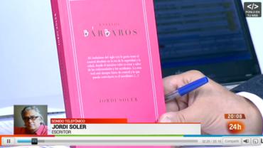 Jordi Soler en el programa de TVE 24 Horas
