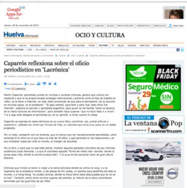 Huelva Información – Martín Caparrós