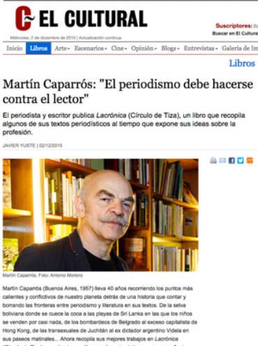 El Cultural – Martín Caparrós
