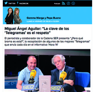 Cadena Ser – Miguel Ángel Aguilar