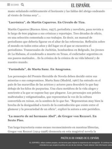 El Español – Martín Caparrós