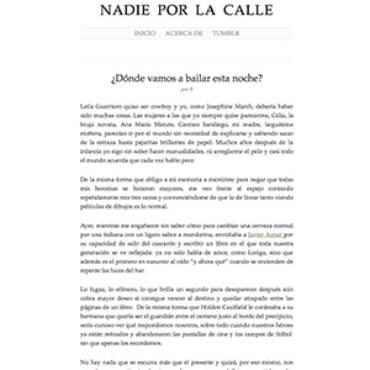 Nadie por la calle – Javier Aznar