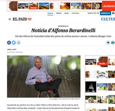 El País Cataluña – Alfonso Berardinelli