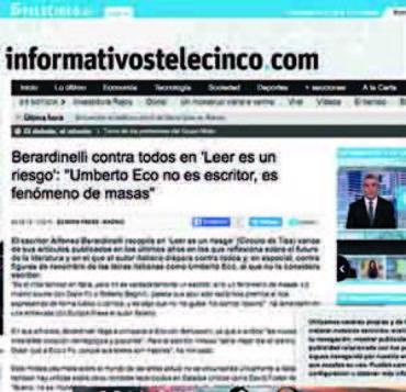 Telecinco -Alfonso Berardinelli