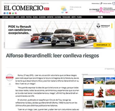 El Comercio – Alfonso Berardinelli