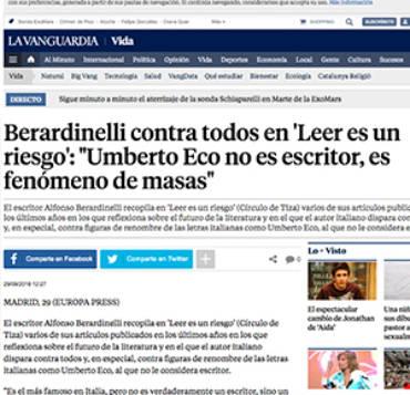 La Vanguardia – Alfonso Berardinelli