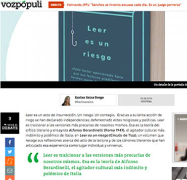 Voz Populi – Alfonso Berardinelli