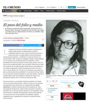 El Mundo Cultura – Francisco Umbral