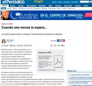 El Periódico de Aragón – Martín Caparrós