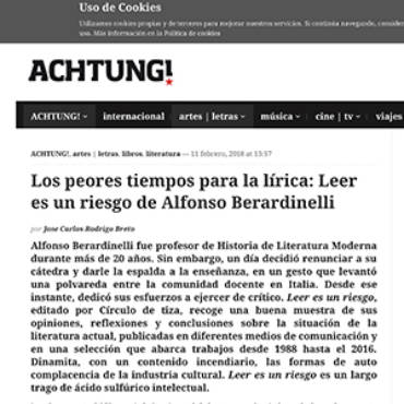 Achtungmag – Alfonso Berardinelli