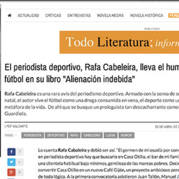 Todo Literatura – Rafa Cabeleira