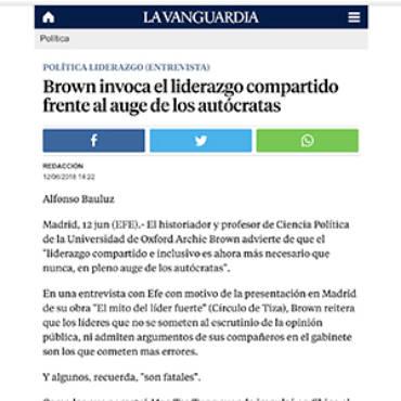 La Vanguardia – Archie Brown