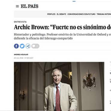 El País – Archie Brown