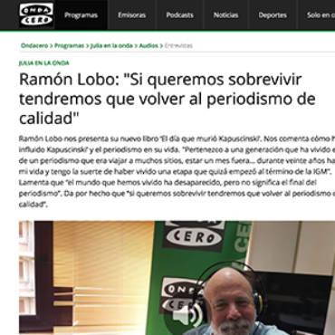 Onda Cero – Ramón Lobo