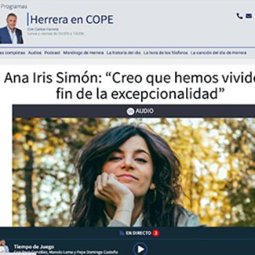 Cadena Cope – Ana Iris Simón