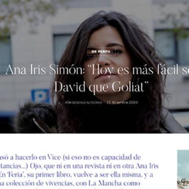 Revista Centinela – Ana Iris Simón