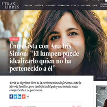 Letras libres – Ana Iris Simón