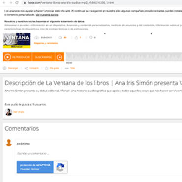Cadena Ser – Ana Iris Simón